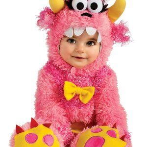 Noah's Ark Pink Monster Costume Infant 12M -18M